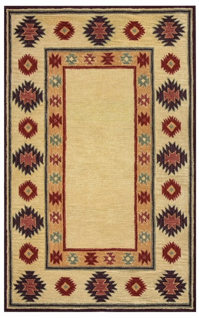 Rizzy Rugs Beige Southwest Hand Tufted Area Rug Southwest SU2015