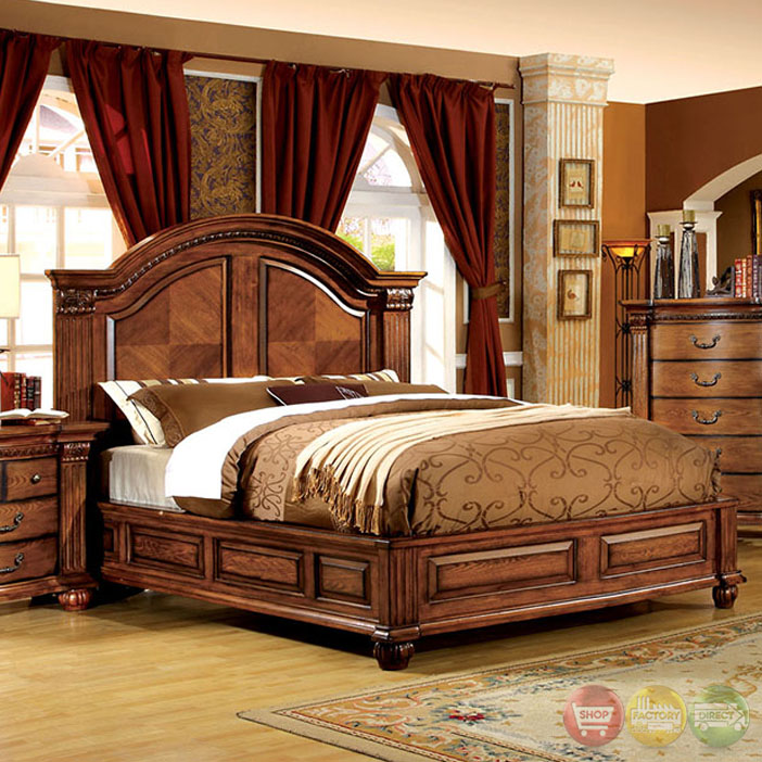 bellagrand luxurious antique tobacco oak bedroom set dovetail drawers