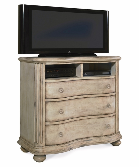 Belmar II Casual Whitewash Finish Media Chest