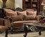 Belmond Old World Winged Ash Brown Sofa & Loveseat With Ebony Ornate Frame