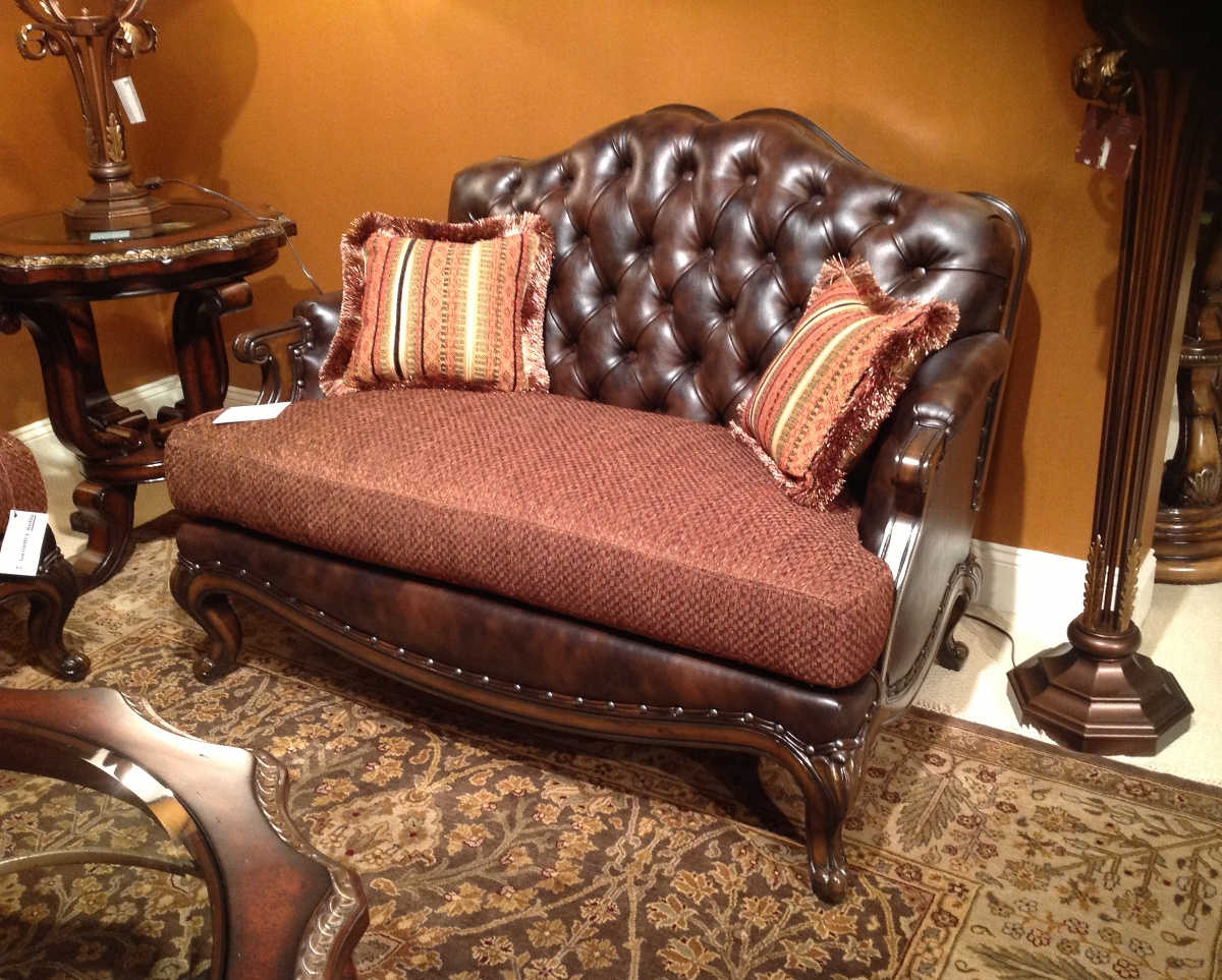 28 formal leather sofa alba tufted leather back solid wood