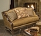 Alyssa Classic Traditional Antique Style Loveseat Exposed Wood Frame