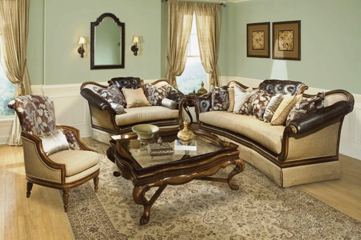 salvatore antique style luxury formal living room set