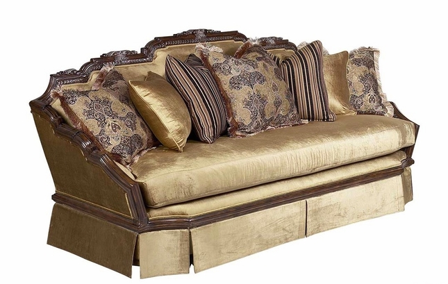 Valentina Traditional Antique Style Upholstered Sofa Set