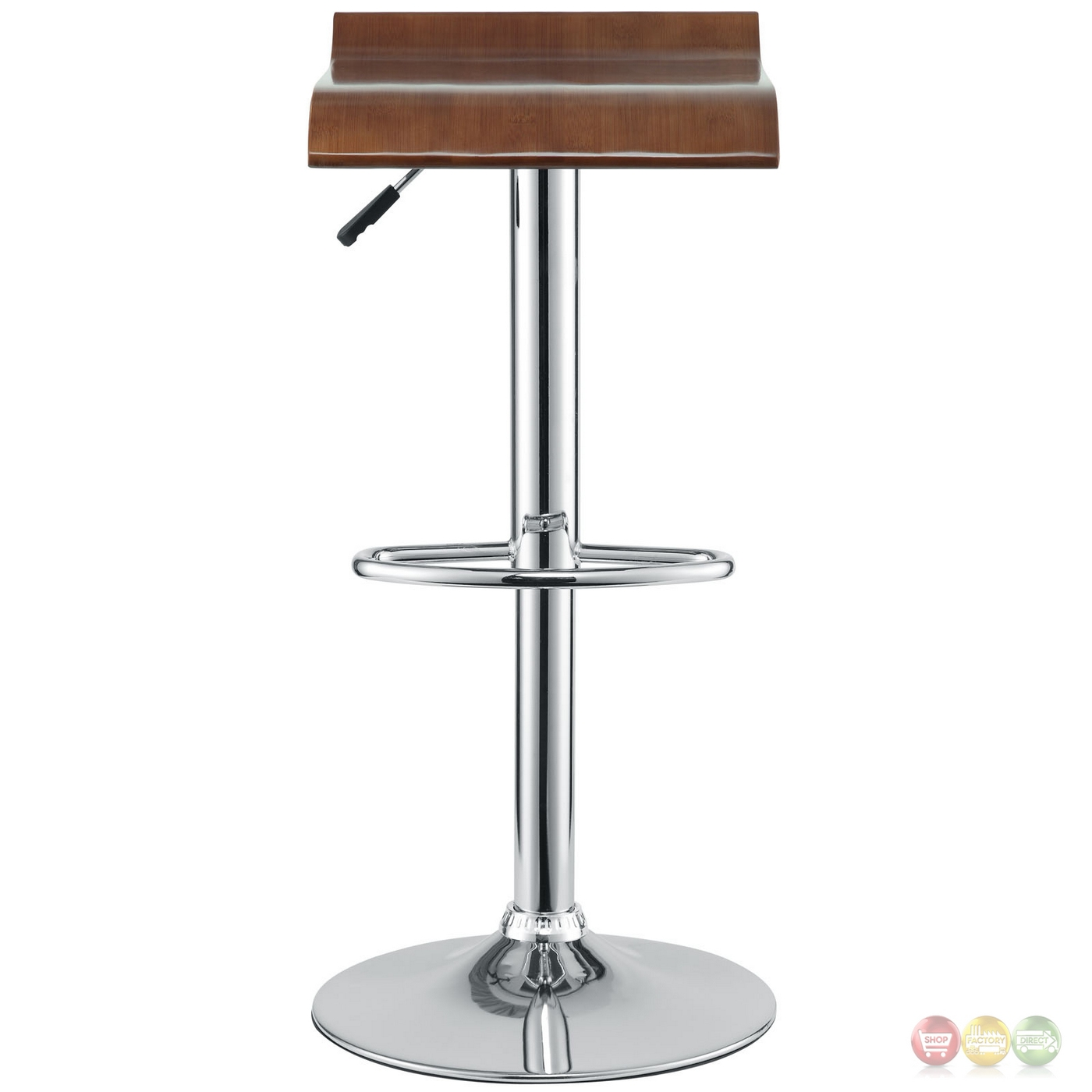 Bentwood Modern Wooden Seat Bar Stool W Chrome Base Amp Foot