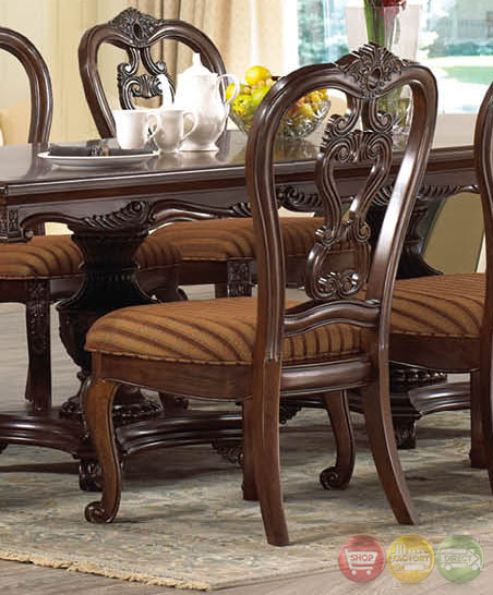 Dining Set With Buffet: Beth Traditional Dark Wood Formal Dining Set With Buffet