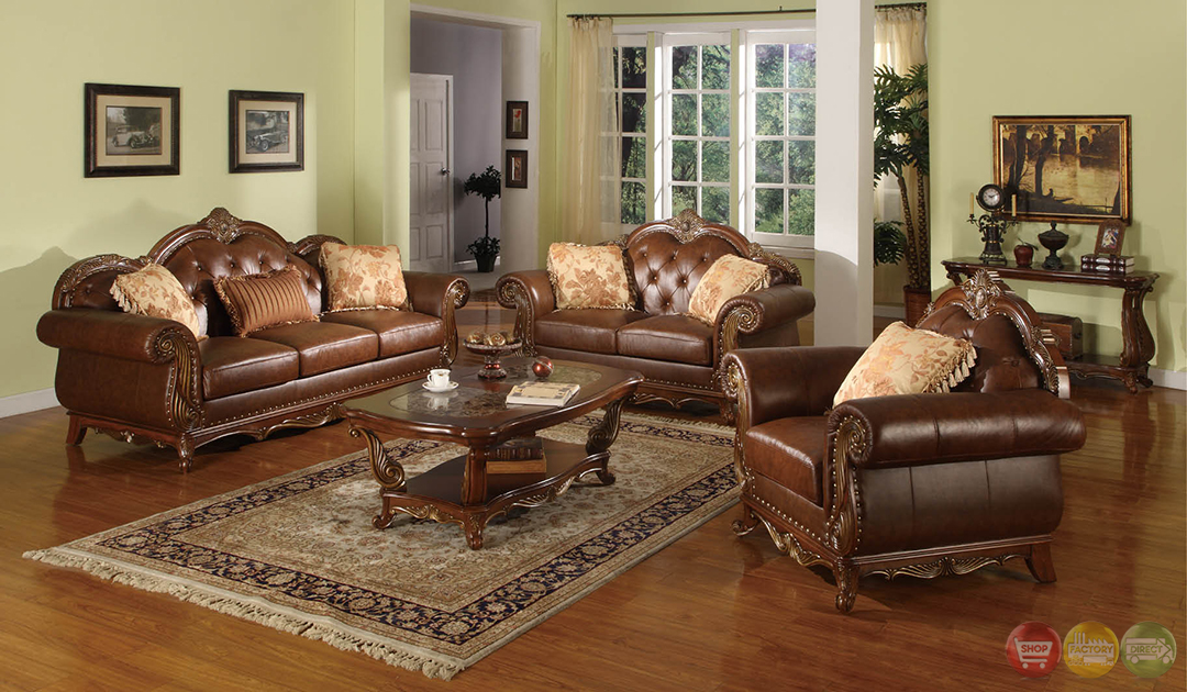 medium wood formal living room sets with carved accents rpcmo88