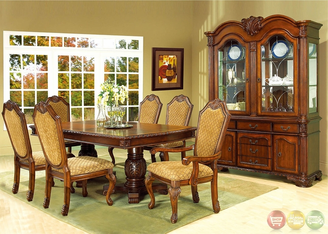 Betty Cherry Traditional Medium Wood Formal Dining Set