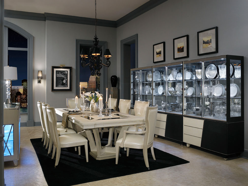 michael amini beverly blvd pearl caviar formal dining room