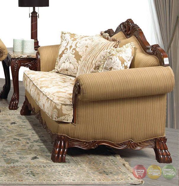 beverly traditional dark wood formal living room sets with carved