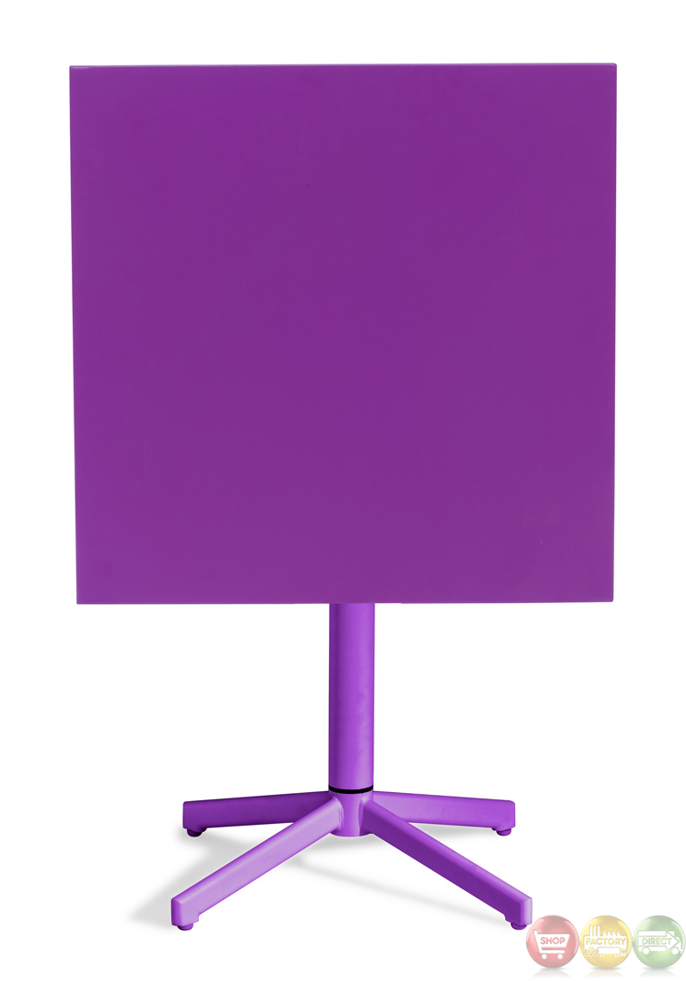 Big Wave Purple Square Folding Table Zuo Modern 703041