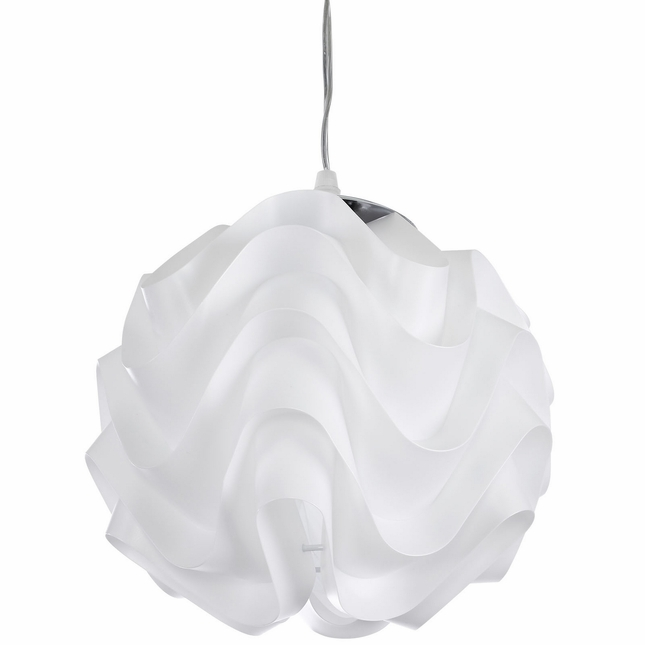 Billow Contemporary Luminescent Wave-style Pendant Chandelier, White