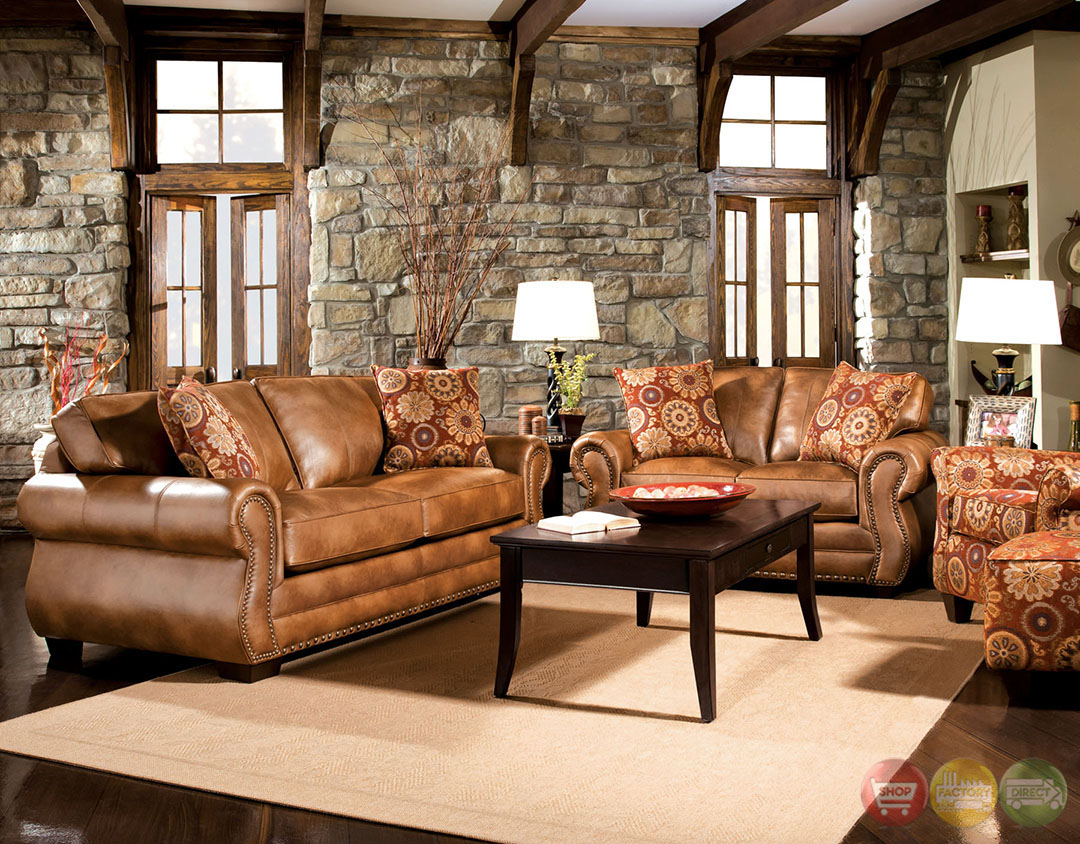 birmingham traditional golden brown living room set with pillows