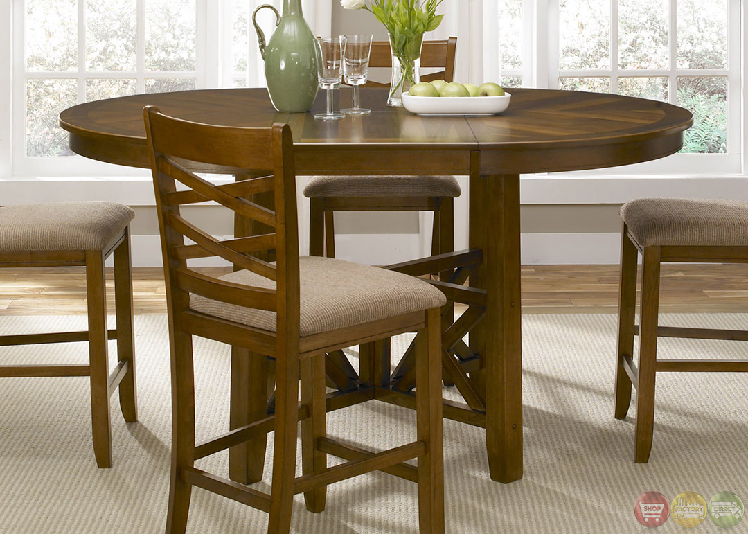 Bistro Honey Finish Round Counter Height Dining Set : bistro honey finish round counter height dining set 8 from shopfactorydirect.com size 1080 x 771 jpeg 268kB