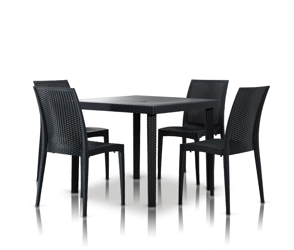 Bistrot Modern Square Dining Table Set VGIGBISTROT TABLESQUARE SET