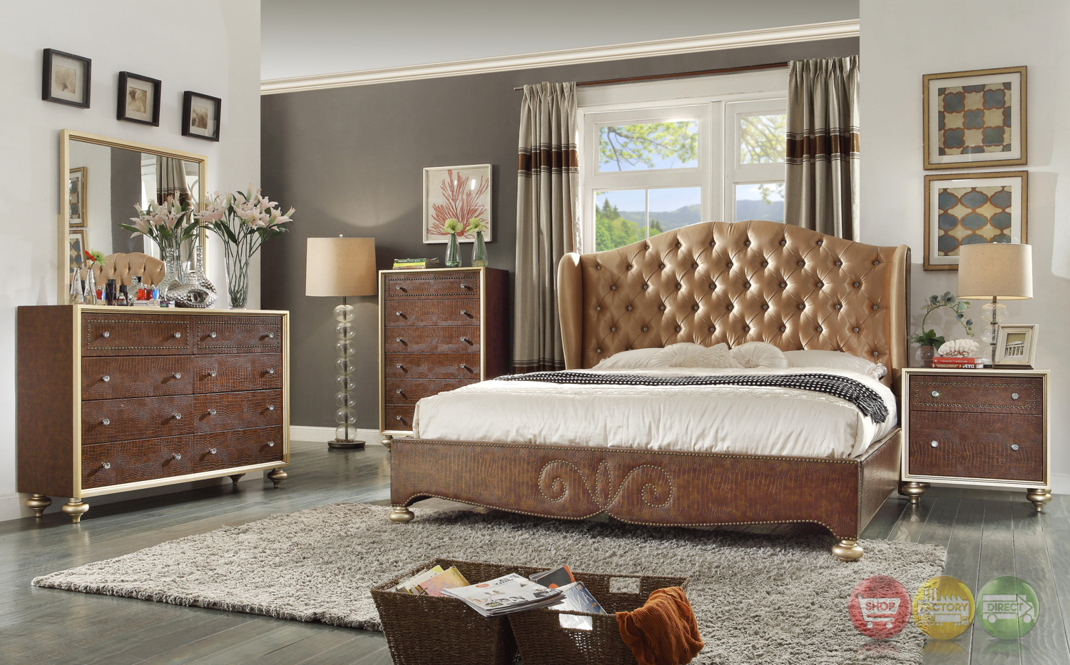 glamorous brown button tufted wing back bed faux croc 25 best ideas about white headboard on pinterest white