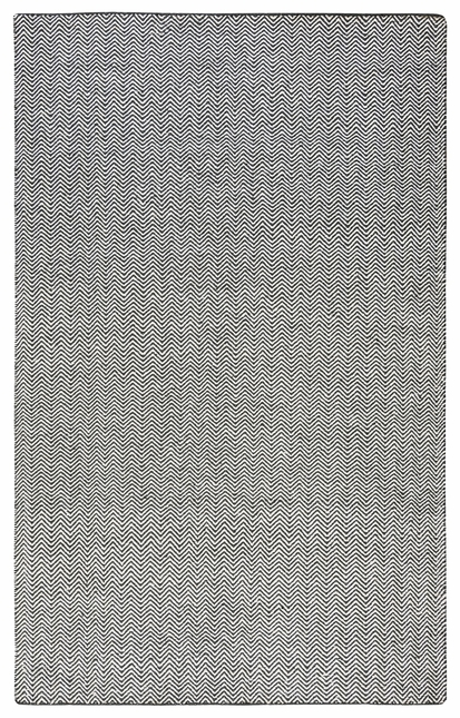 Rizzy Rugs Black Transitional Hand Woven Dhurrie Area Rug Twist TW2966