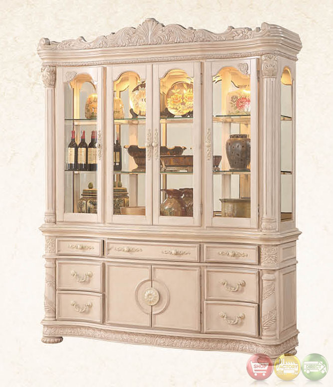 Dining Room Set With Hutch: Blair Traditional Light Wood Formal Dining Set With Buffet