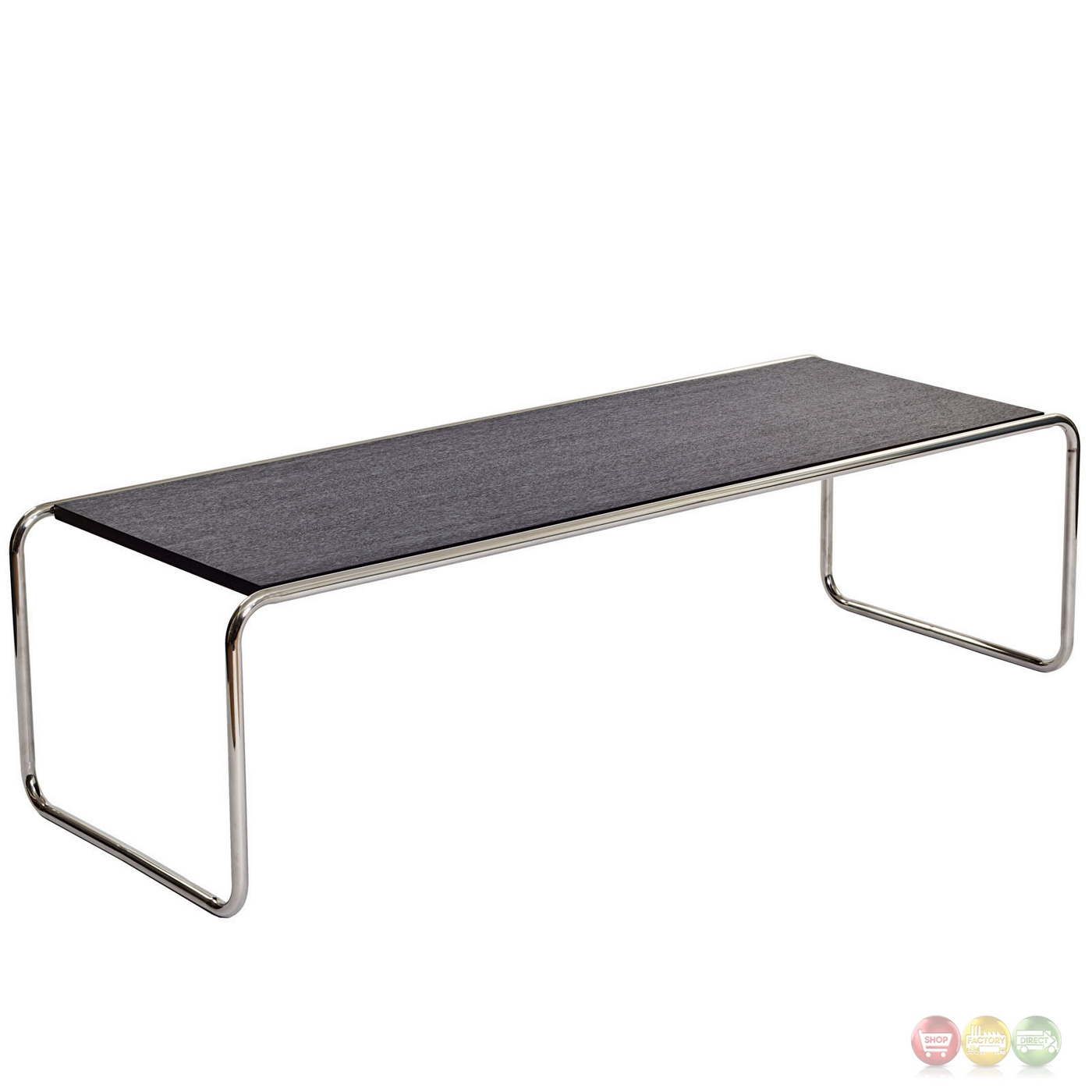 Wood And Chrome Pierceson Coffee Table: Blox Contemporary Wood Top Nesting Coffee Table With