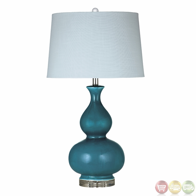 Blue Elsa Ceramic Blue Table Lamp L2724TEC