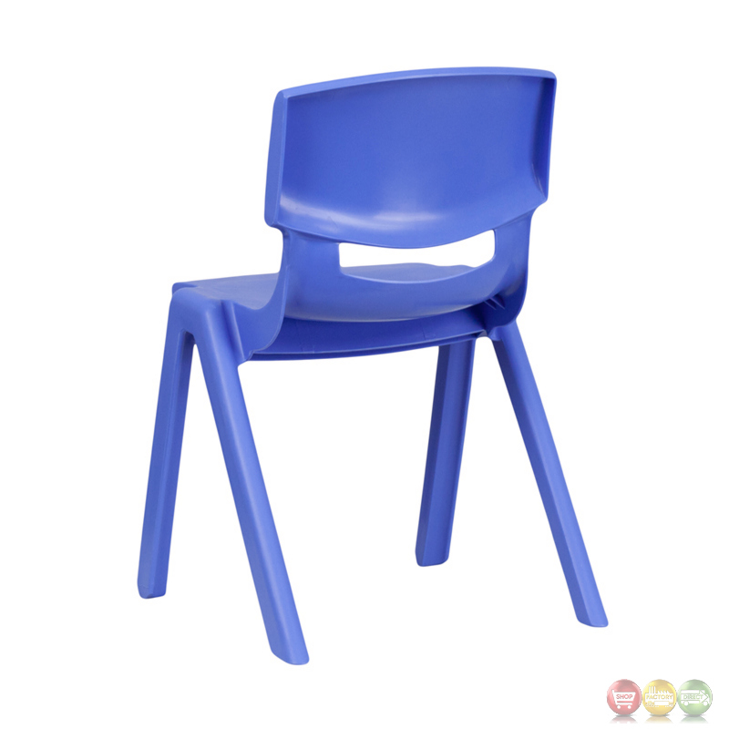 Blue plastic stackable school chair with 1325 inch seat for Blue plastic chair