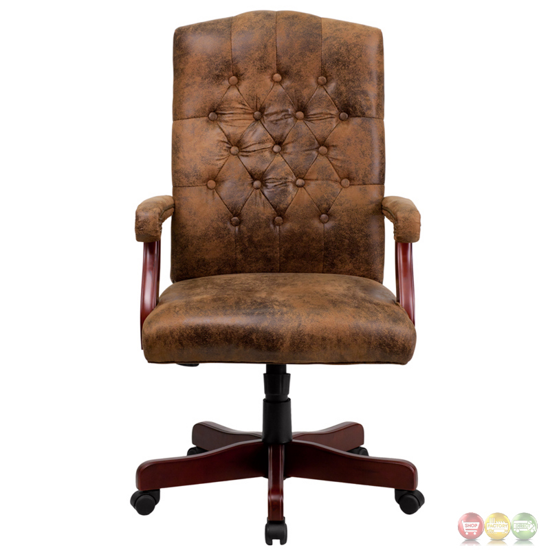 Bomber Brown Classic Executive Office Chair 802 Brn Gg