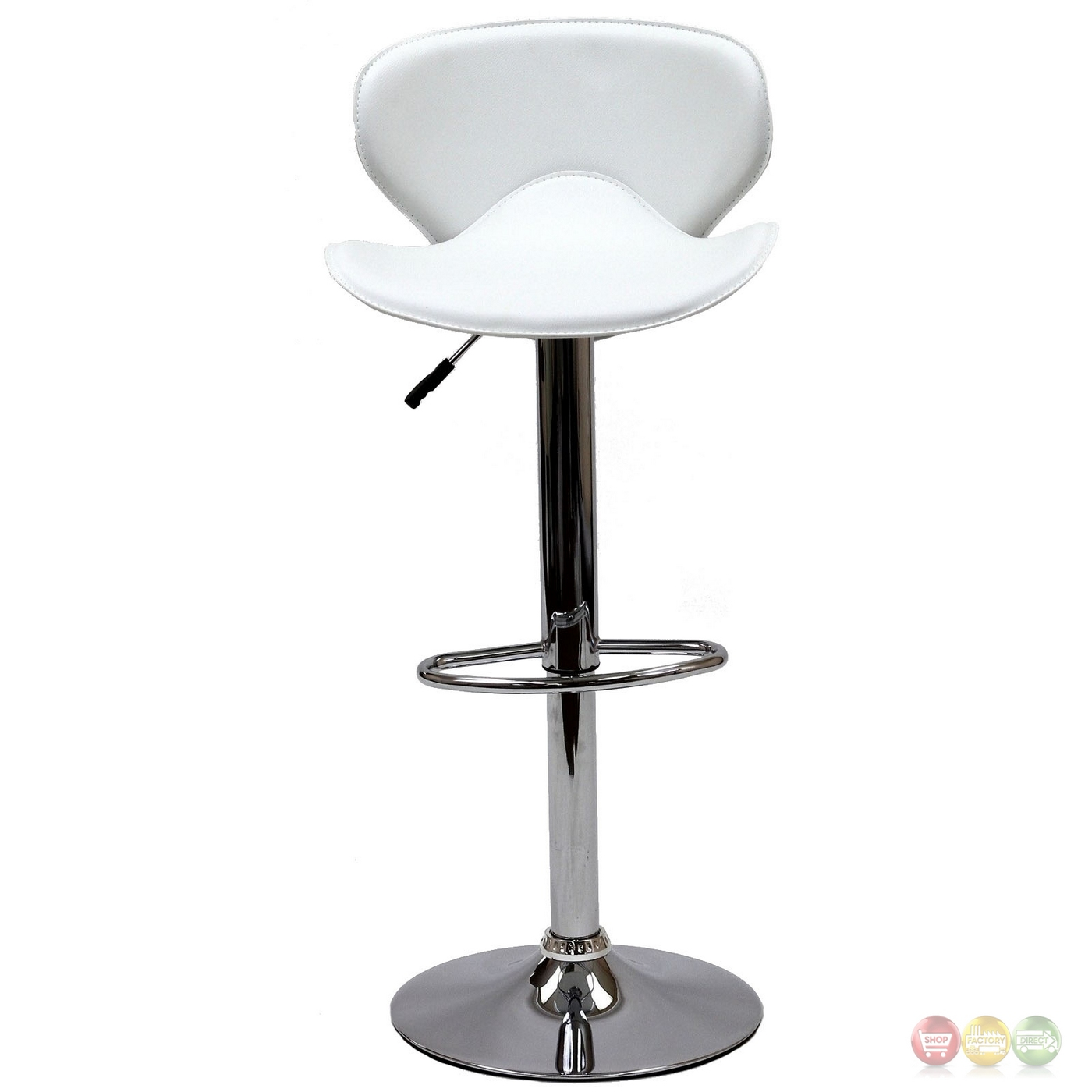 Booster Modern Ergonomic Winged Bar Stool W Chrome Base