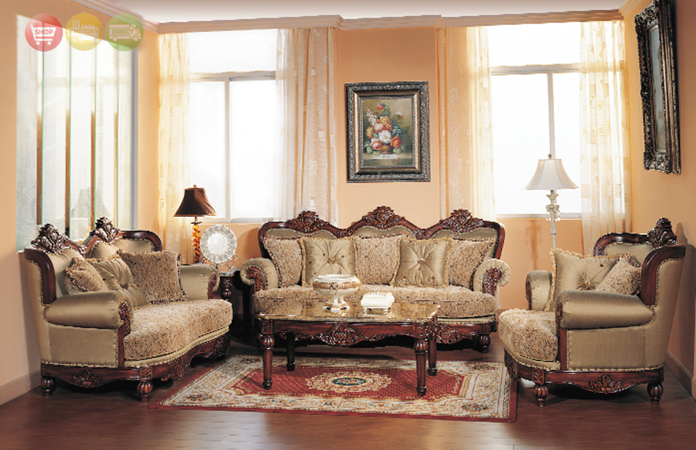 Bordeaux Luxury Chenille Formal Living Room Sofa And Loveseat Set ShopFactory