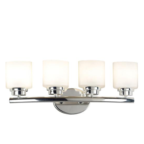 Bow Four Light Sconce Polished Nickel Vanity Fixture 03393