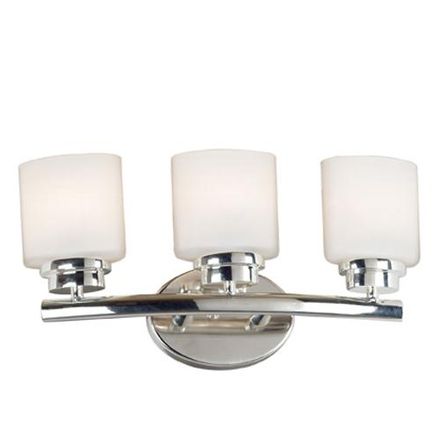 Triple Sconce Bathroom: Bow Triple Light Sconce Polished Nickel Vanity Fixture
