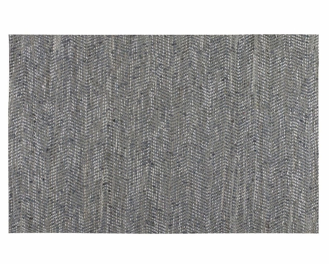 Branson Recycled Denim Hand Woven Leather Rug 71038