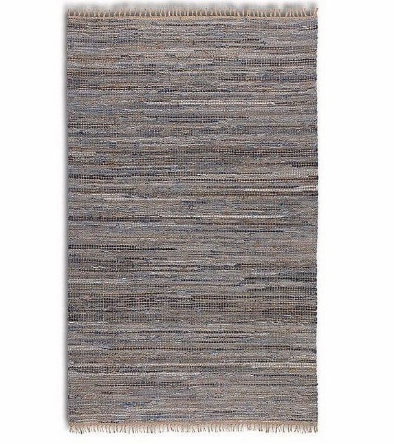 Braymer Blue Rescued Denim Hand Woven Rug 71055