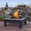 """Breckenridge Outdoor Wood-Burning 34"""" Square Fire Pit With Slate Tile Top"""