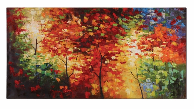Bright Foliage Hand Painted Canvas Art 32214