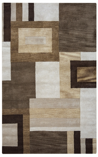 Rizzy Rugs Brown Geometric Hand Tufted Area Rug Volare VO1431