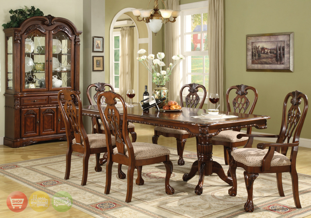 Brussels Traditional Dining Room Set 7 piece Set : brussels formal dining room furniture collection 5 from shopfactorydirect.com size 1023 x 717 jpeg 297kB