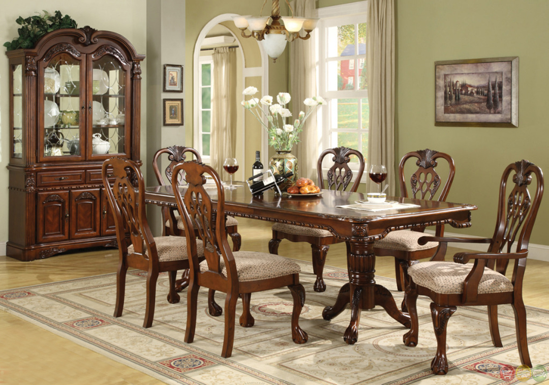 Brussels Traditional Dining Room Set 7 piece Set