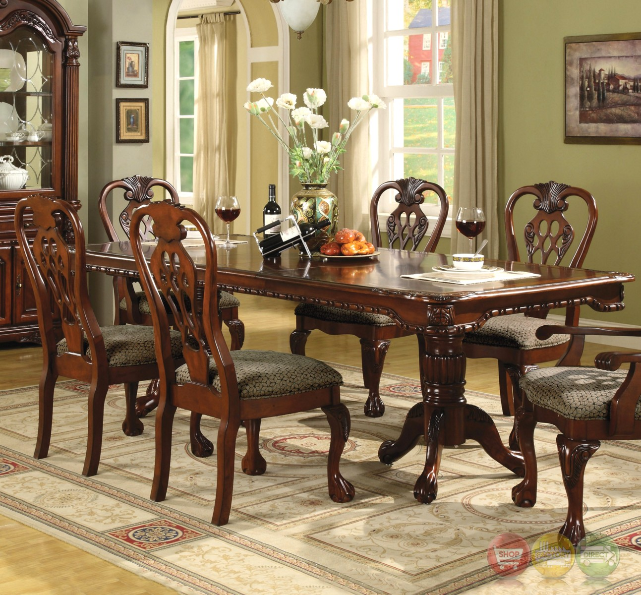 Traditional Dining Room Set: Brussels Traditional Dining Room Set 7 Piece Set