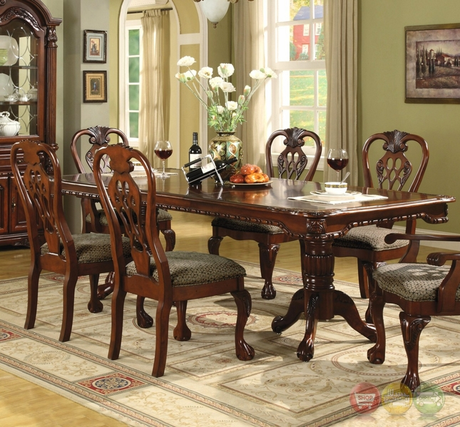 Andrea Formal Dining Room Set Coaster Furniture: Brussels Traditional Dining Room Set 7 Piece Set