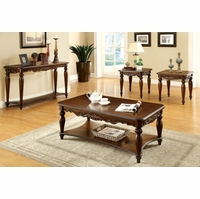 Bunbury Traditional Cherry Accent Tables with Turned Legs