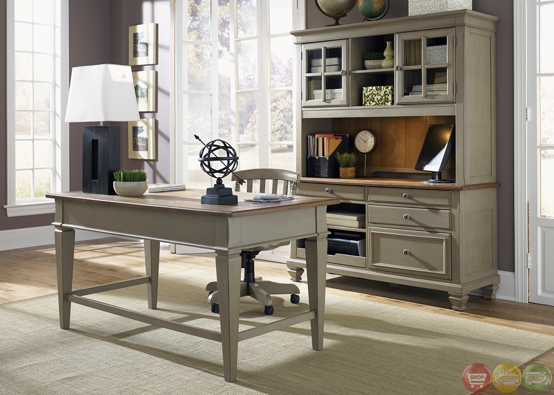 Oak office desk benefits for home office - Bungalow Executive Home Office Furniture Desk Set Modern