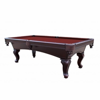 Burgundy 8 Foot Queen Anne Style 3 Piece Slate Table
