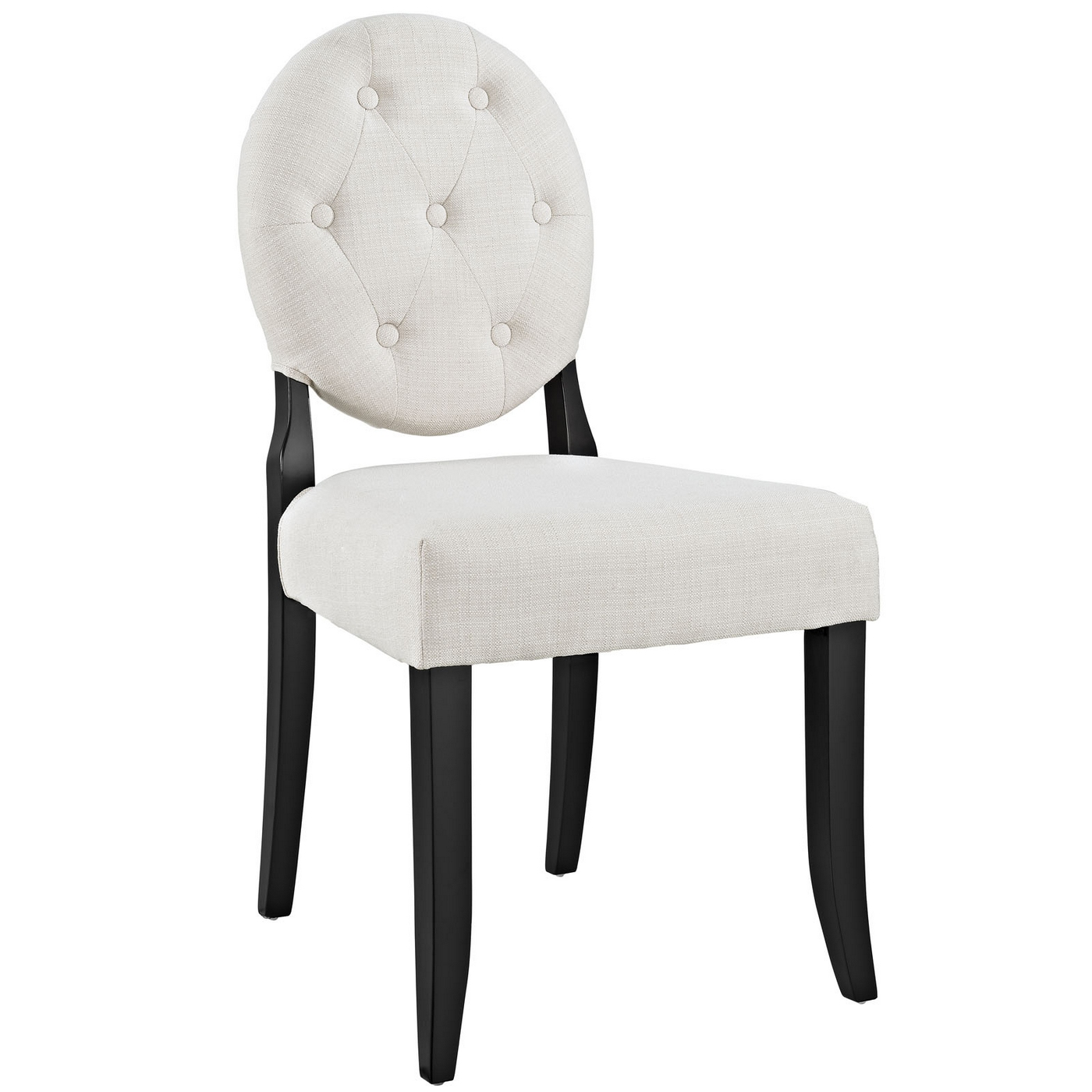 Round Back Dining Room Chairs: Button Modern Round Back Upholstered Dining Side Chair W