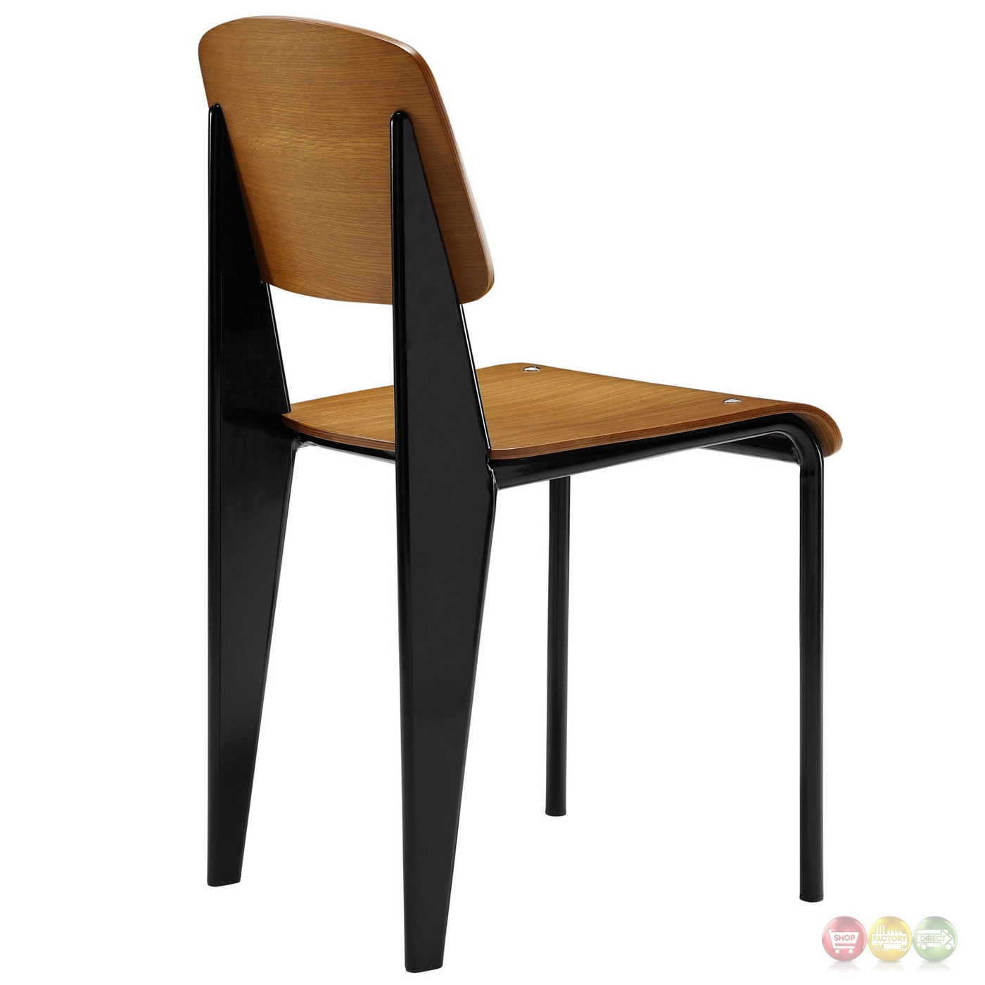 Cabin Contemporary Natural Wood Dining Side Chair W