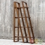 Cacey Honey Stained Solid Mahogany Wood Etagere With Four Shelves
