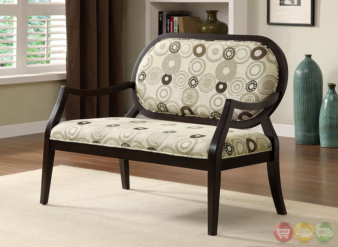 cairns ii contemporary espresso accent chair with padded