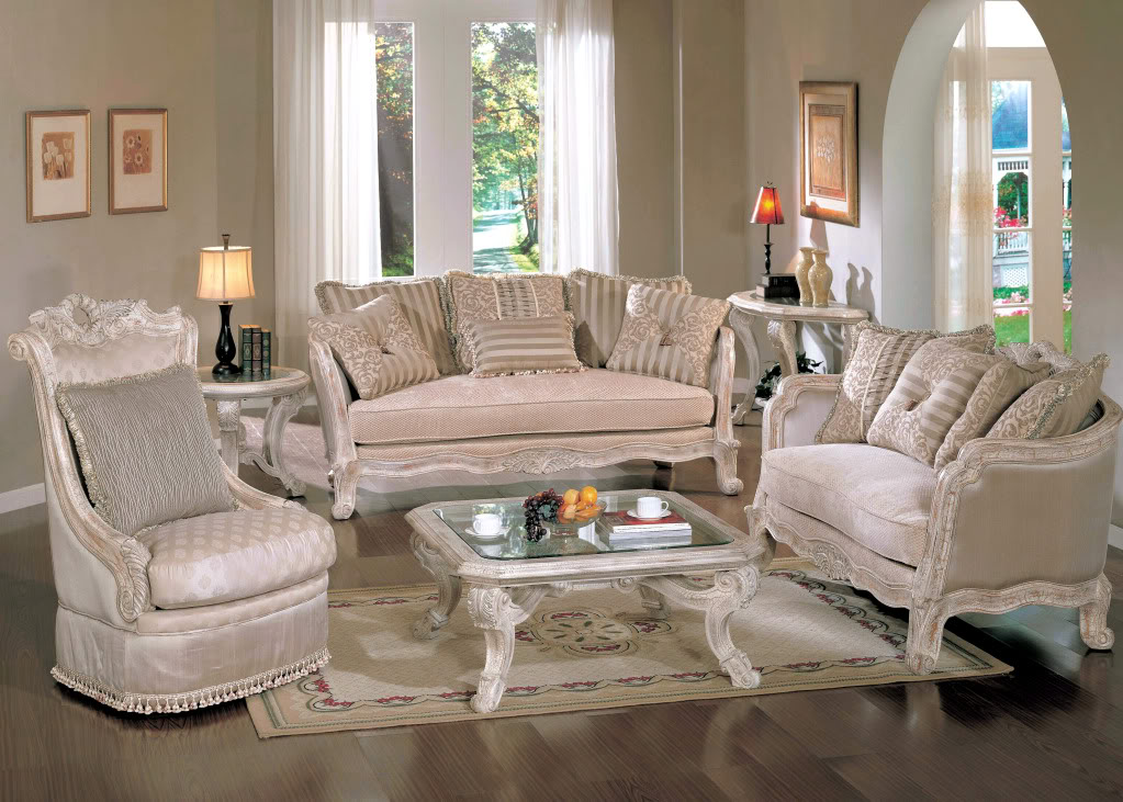 Antique White Living Room Furniture – Modern House