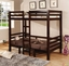 Cappuccino Play Table Twin Over Twin Convertible Bunk Bed