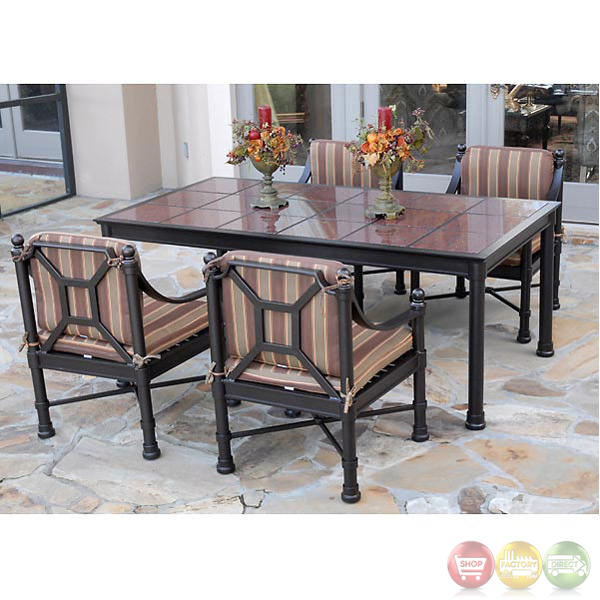 Captiva 7 Piece Cast Aluminum Patio Furniture Dining Set