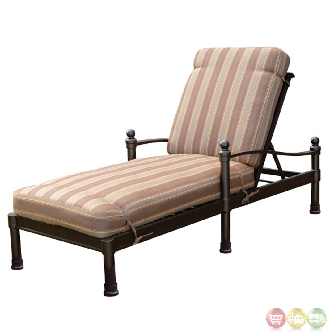 Captiva 3 Piece Cast Aluminum Outdoor Chaise Lounge Set